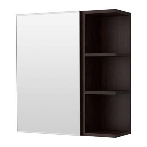lill 197 ngen mirror cabinet 1 door 1 end unit black brown