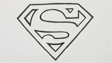 draw  superman logo cartoon comic doodle