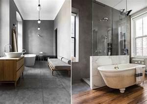 Beton Ciré Salle De Bain Sur Carrelage : b ton cir salle de bain pour cr er un pi ce de caract re bien tremp ~ Preciouscoupons.com Idées de Décoration