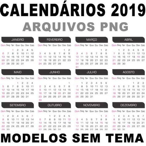calendario modelos simples png sem tema calendarios