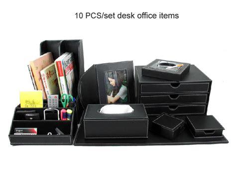 cute desk organizer set aliexpress com buy 10pcs set wood leather desk file