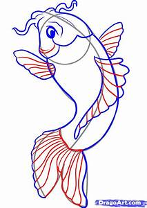 How to Draw a Koi, Step by Step, Fish, Animals, FREE ...