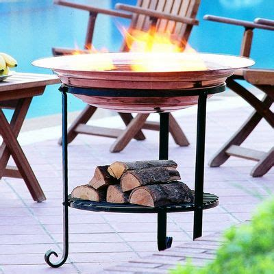 elevated copper fire pit   cozydays