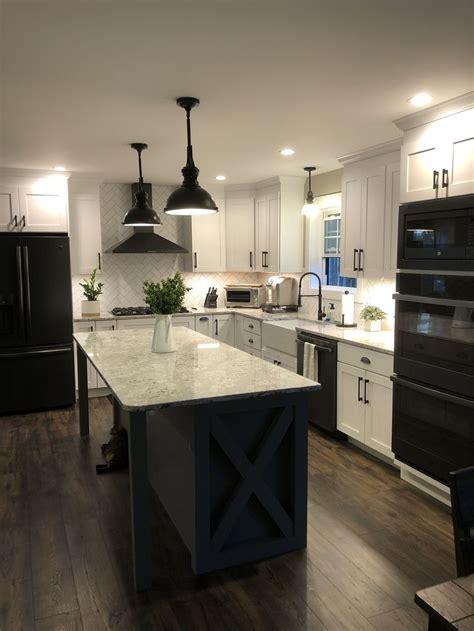 farmhouse kitchen   slate appliances white