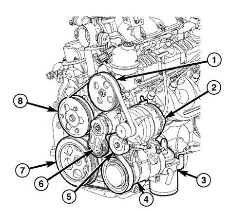 2000 Chrysler 3 8 Engine Diagram by 2005 Chrysler Pacifica V6 3 8l Serpentine Belt Diagram