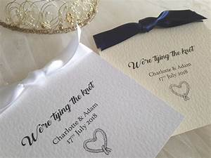 tying the knot wedding invitations gbp125 each With wedding invitation ribbon tying