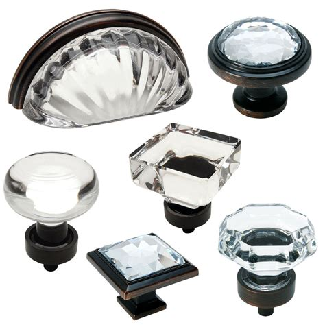 buy kitchen cabinet handles cosmas clear rubbed bronze glass cabinet knobs cup 5015