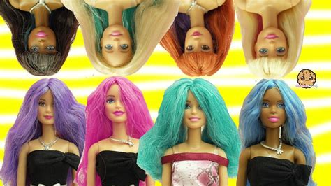 Barbie Dolls Head Twist Changing Hair Style + Color Change
