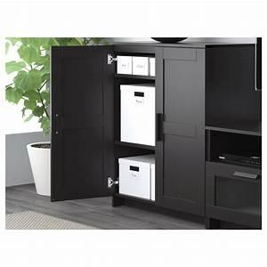 BRIMNES TV Storage Combination Black 200 X 41 X 95 Cm IKEA