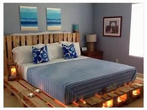 Fabriquer Un Lit En Palette : lit en palette d couvrez 30 id es pour fabriquer un lit en palette ~ Dode.kayakingforconservation.com Idées de Décoration