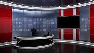 News TV Studio Set - Virtual Green Screen Background Loop ...
