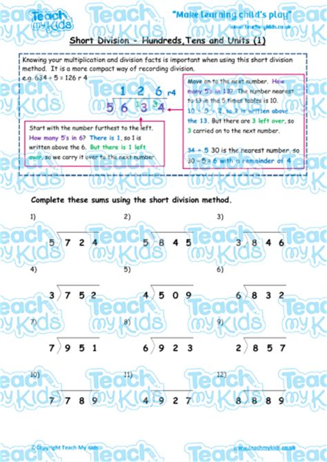 division worksheets htu by u division htu 1 teach my