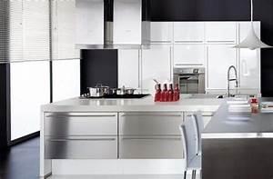 davausnet cuisine moderne laque blanc avec des idees With cuisine moderne blanc laque