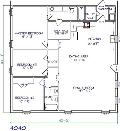 floor plans 40 x 40 30 barndominium floor plans for different purpose