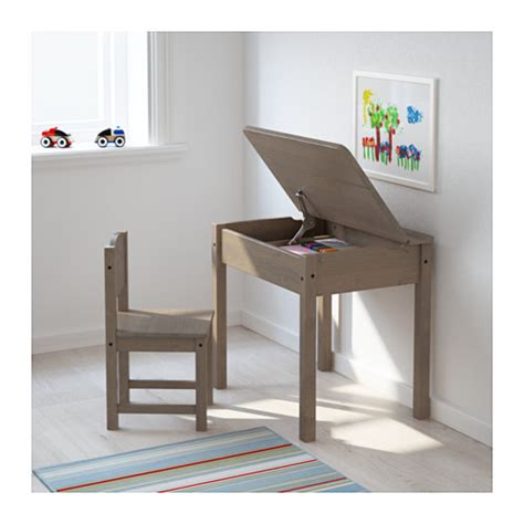Ikea Childrens Writing Desk by Sundvik Children S Desk Grey Brown 58x45 Cm Ikea