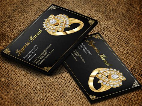 conservative jewelry store business card design