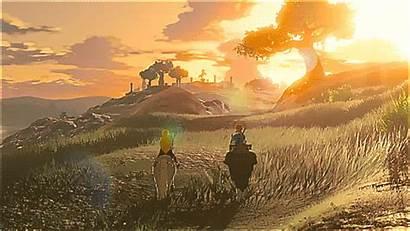 Zelda Legend Breath Wild Link Princess Triforce
