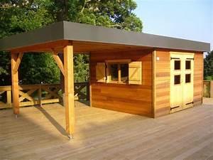Pool House Toit Plat : abris de jardin nordi bois construction maisons madrier ~ Melissatoandfro.com Idées de Décoration