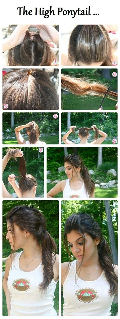 diy high ponytail hairstyle diy projects usefuldiy com