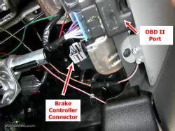 location  brake controller connector   ford  etrailercom