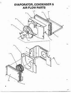 Evaporator  Condenser And Air Flow Diagram  U0026 Parts List
