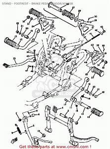 Yamaha Xs650 B 1974-1976 Stand - Footrest