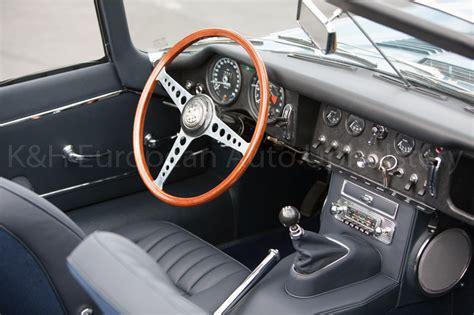 Jaguar E-type S1 Rds Navy Blue Interior