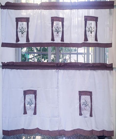 Country Style Kitchen Curtains And Valances Window
