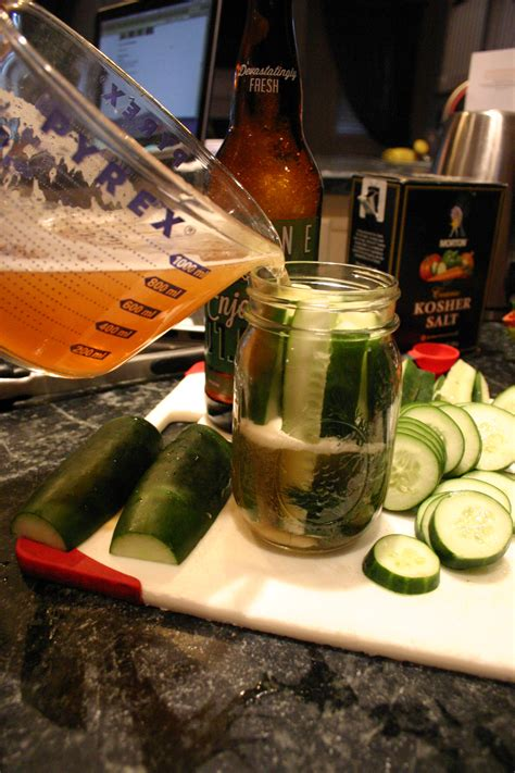 cooking  beer stone cold ipa pickles