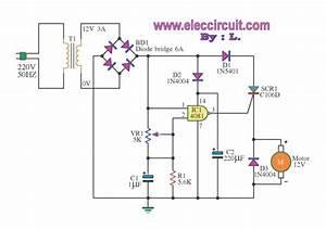 220v Dc Motor Speed Control Circuit Diagram
