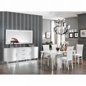 Bahut Blanc Laqué Design : buffet bahut design 2 portes 3 tiroirs laqu blanc alceste matelpro ~ Teatrodelosmanantiales.com Idées de Décoration