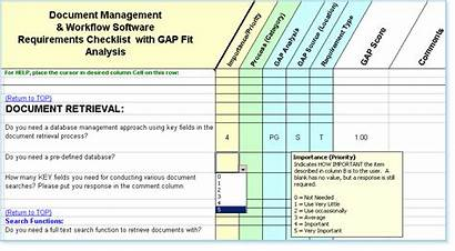 Gap Analysis Template Software Excel Sample Document