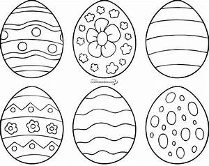 Oeuf Paques Dessin : coloriages de 6 modele d oeuf de paques a imprimer easter printables pinterest d ~ Melissatoandfro.com Idées de Décoration