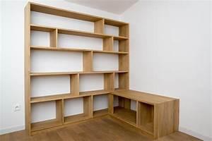Meuble Bibliothèque Bois : bibliotheque meuble tv d 39 angle par billbaroud sur l 39 air du bois ~ Teatrodelosmanantiales.com Idées de Décoration