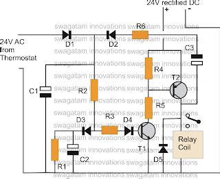 thermostat delay relay timer circuit electronic circuit projects