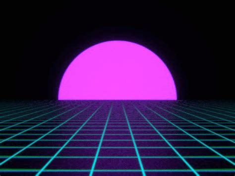 Aesthetic Neon Wallpaper Gif by Vaporwave Sunset Blender