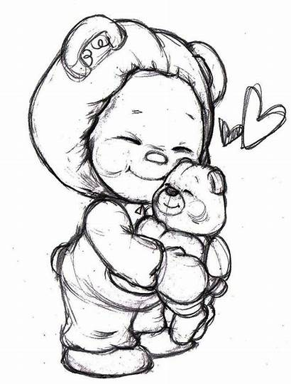 Bear Teddy Drawing Coloring Bears Pages Christmas