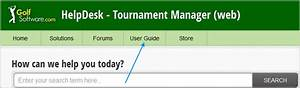 Is There A User Guide Or Manual    Tournament Manager