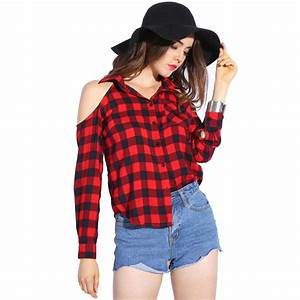 Dioufond Cold Shoulder Women Shirts 2017 Spring Style ...