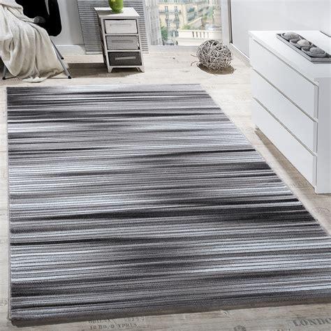 teppich wohnzimmer modern gestreift kurzflor glitzergarn