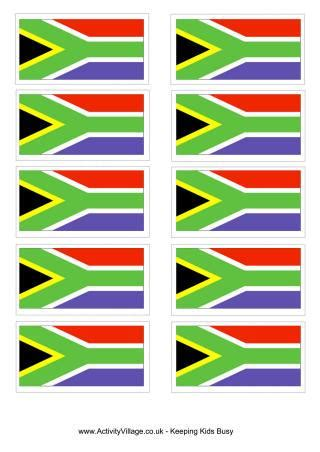 south africa flag printables