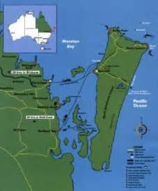 North Stradbroke Island Map