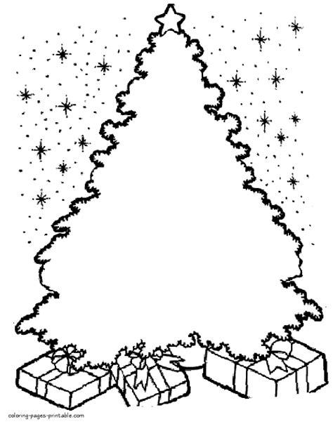 christmas tree draw ornaments   colour
