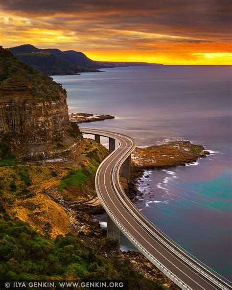 Sea Cliff Bridge At Sunrise Print Photos Fine Art
