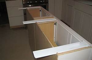 Countertop supports for islands are hidden and simple to