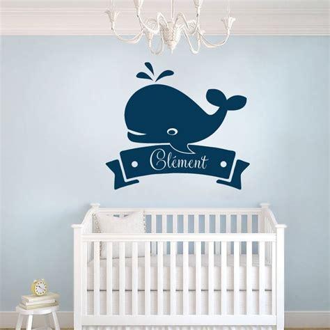 stickers chambre bébé personnalisé stickers baleine