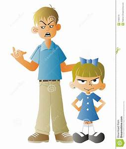 Man scolding a small child stock illustration ...