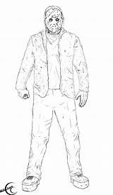 Jason Freddy Vs Friday 13th Voorhees Coloring Pages Colouring Deviantart Myers Michael Ec87 Drawings Krueger Printable Sketch Again Bar Looking sketch template