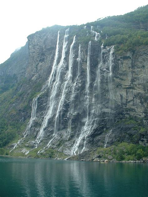Seven Sisters In Geiranger Fjord Norway Norway Pinterest