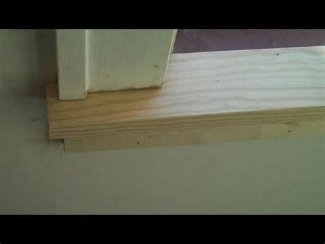 Replacing An Interior Window Sill by How To Install Window Trim Doovi